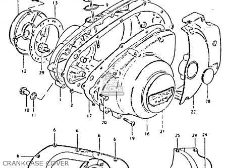 Suzuki Gs250 1981 tx Crankcase Cover