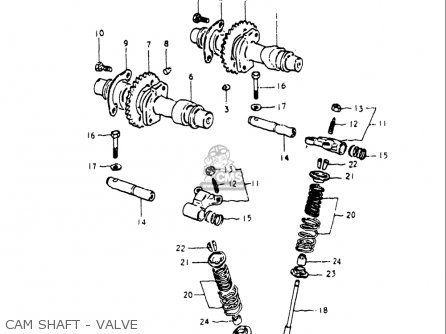 Suzuki Gs250 T 1980-1981 usa Cam Shaft - Valve