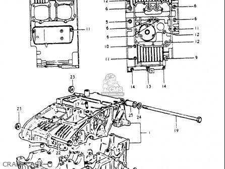 Suzuki Gs250 T 1980-1981 usa Crankcase