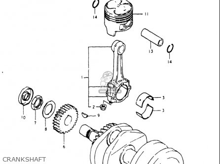 Suzuki Gs250 T 1980-1981 usa Crankshaft