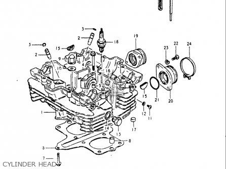 Suzuki Gs250 T 1980-1981 usa Cylinder Head