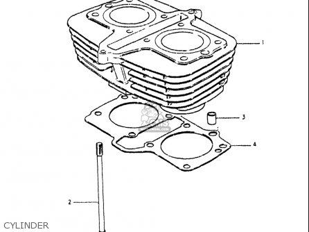 Suzuki Gs250 T 1980-1981 usa Cylinder