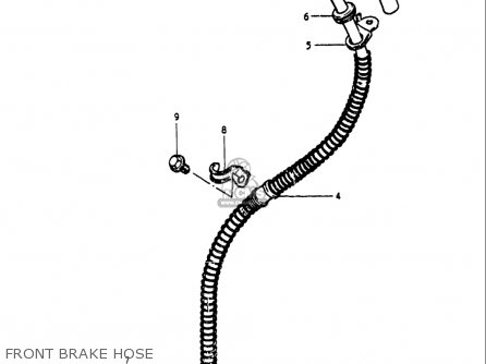 Suzuki Gs250 T 1980-1981 usa Front Brake Hose