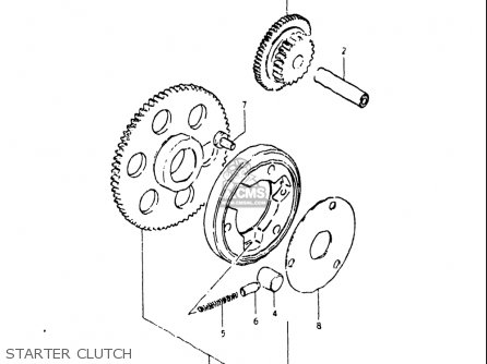 Suzuki Gs250 T 1980-1981 usa Starter Clutch