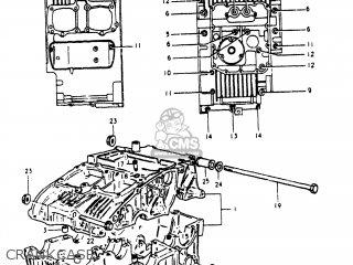 Suzuki Gs250t 1980 t Usa e03 Crankcase