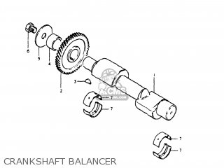 Suzuki Gs250t 1980 t Usa e03 Crankshaft Balancer
