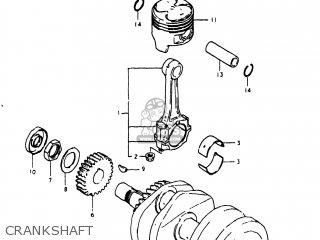 Suzuki Gs250t 1980 t Usa e03 Crankshaft