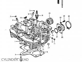 Suzuki Gs250t 1980 t Usa e03 Cylinder Head