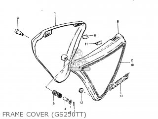 Suzuki Gs250t 1980 t Usa e03 Frame Cover gs250tt