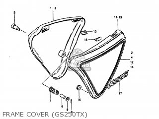 Suzuki Gs250t 1980 t Usa e03 Frame Cover gs250tx