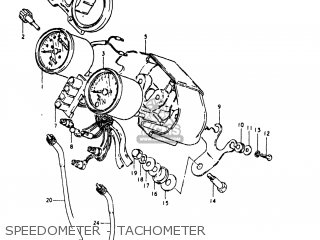 Suzuki Gs250t 1980 t Usa e03 Speedometer - Tachometer