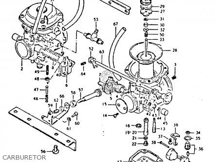 Suzuki Gs250t 1981 x United Kingdom e02 Carburetor