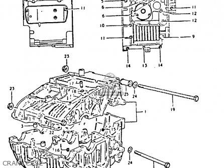 Suzuki Gs250t 1981 x United Kingdom e02 Crankcase