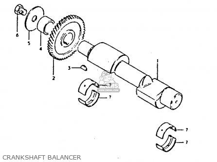 Suzuki Gs250t 1981 x United Kingdom e02 Crankshaft Balancer