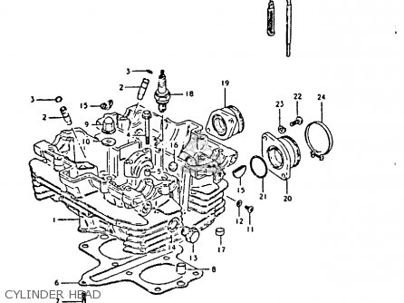 Suzuki Gs250t 1981 x United Kingdom e02 Cylinder Head
