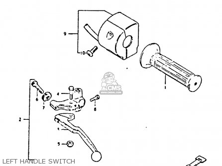 Suzuki Gs250t 1981 x United Kingdom e02 Left Handle Switch