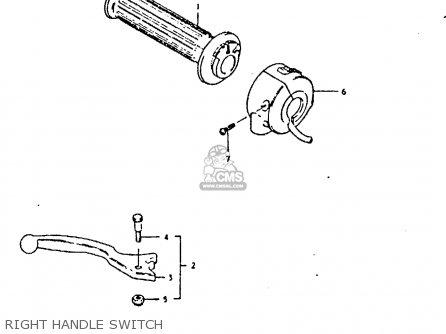 Suzuki Gs250t 1981 x United Kingdom e02 Right Handle Switch