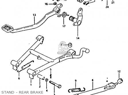 Suzuki Gs250t 1981 x United Kingdom e02 Stand - Rear Brake