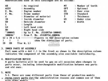 Suzuki Gs250t 1981 x United Kingdom e02   Catalog Preface