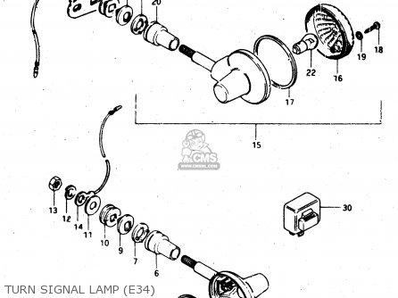 suzuki gs450l 1981  x   e02 e15 e21 e22 e24 e25 e39  parts