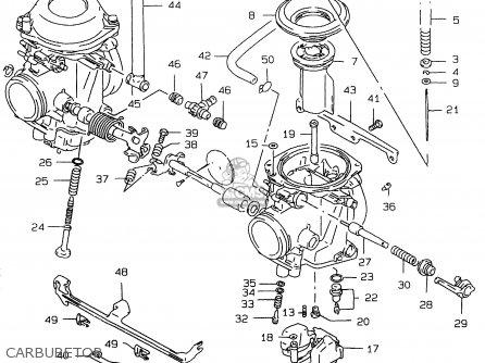 suzuki gs500 1997  euv  parts list partsmanual partsfiche