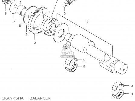 Suzuki Gs500 1999 ex Crankshaft Balancer