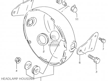 Suzuki Gs500 1999 ex Headlamp Housing