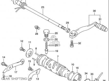 Suzuki    Gs500 E    19972000  usa  parts list partsmanual