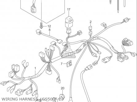 suzuki gs500 f usa wiring harness gs500f e3_mediumsuusa434127_9219 2012 polaris sportsman 400 wiring diagram,sportsman free download,500 Wiring Diagram In Addition Polaris Sportsman