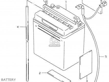 Suzuki Gs500e 1999 x e02 E04 E22 E24 E25 E34 E37 Battery