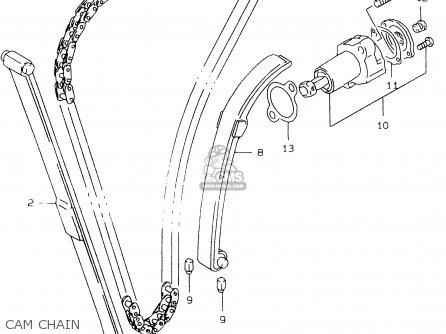 Suzuki Gs500e 1999 x e02 E04 E22 E24 E25 E34 E37 Cam Chain