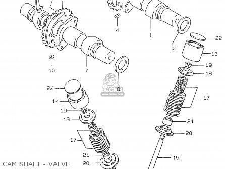 Suzuki Gs500e 1999 x e02 E04 E22 E24 E25 E34 E37 Cam Shaft - Valve