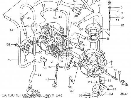 Suzuki Gs500e 1999 x e02 E04 E22 E24 E25 E34 E37 Carburetor model W x E4