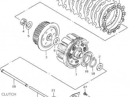 Suzuki Gs500e 1999 x e02 E04 E22 E24 E25 E34 E37 Clutch