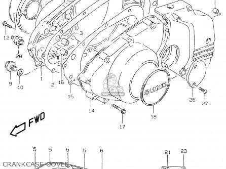 Suzuki Gs500e 1999 x e02 E04 E22 E24 E25 E34 E37 Crankcase Cover