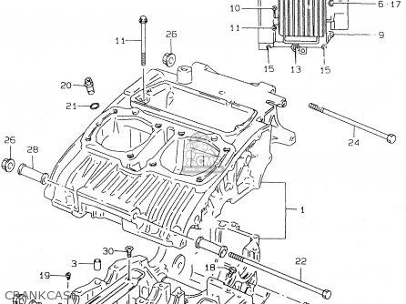 Suzuki Gs500e 1999 x e02 E04 E22 E24 E25 E34 E37 Crankcase