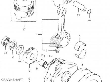 Suzuki Gs500e 1999 x e02 E04 E22 E24 E25 E34 E37 Crankshaft