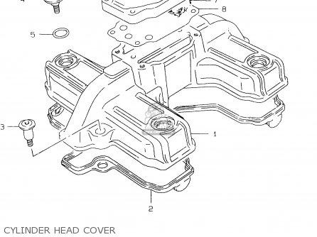 Suzuki Gs500e 1999 x e02 E04 E22 E24 E25 E34 E37 Cylinder Head Cover