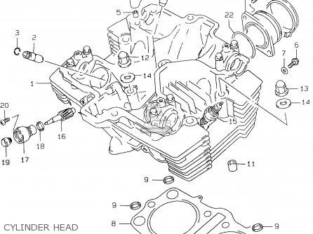 Suzuki Gs500e 1999 x e02 E04 E22 E24 E25 E34 E37 Cylinder Head