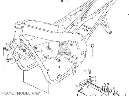Suzuki Gs500e 1999 x e02 E04 E22 E24 E25 E34 E37 Frame model V w