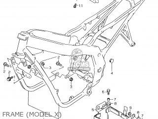 Suzuki Gs500e 1999 x e02 E04 E22 E24 E25 E34 E37 Frame model X
