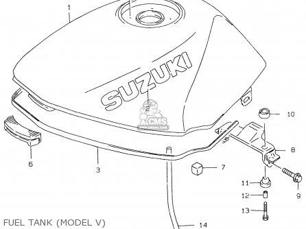 Suzuki Gs500e 1999 x e02 E04 E22 E24 E25 E34 E37 Fuel Tank model V