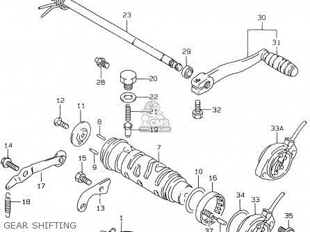 Suzuki Gs500e 1999 x e02 E04 E22 E24 E25 E34 E37 Gear Shifting