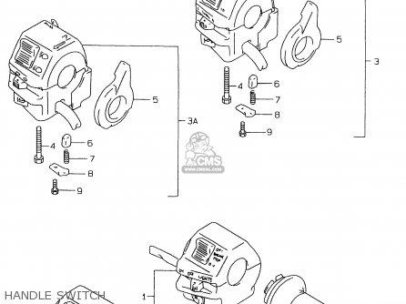 Suzuki Gs500e 1999 x e02 E04 E22 E24 E25 E34 E37 Handle Switch