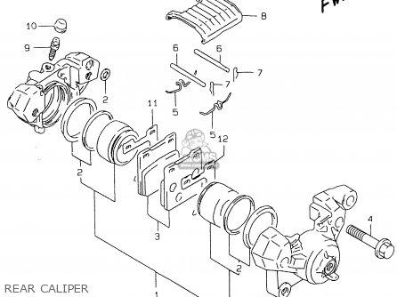 Suzuki Gs500e 1999 x e02 E04 E22 E24 E25 E34 E37 Rear Caliper