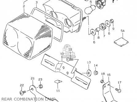 Suzuki Gs500e 1999 x e02 E04 E22 E24 E25 E34 E37 Rear Combination Lamp