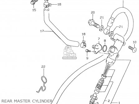 Suzuki Gs500e 1999 x e02 E04 E22 E24 E25 E34 E37 Rear Master Cylinder