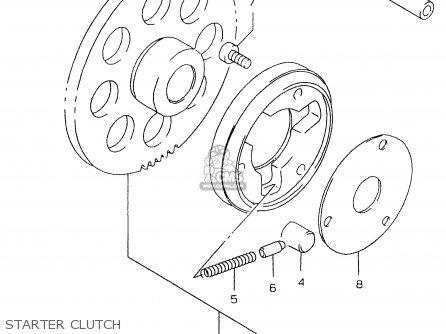 Suzuki Gs500e 1999 x e02 E04 E22 E24 E25 E34 E37 Starter Clutch