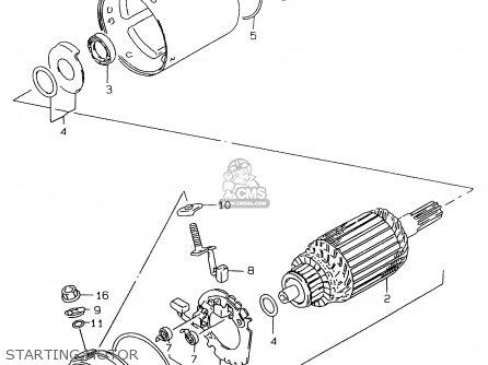 Suzuki Gs500e 1999 x e02 E04 E22 E24 E25 E34 E37 Starting Motor