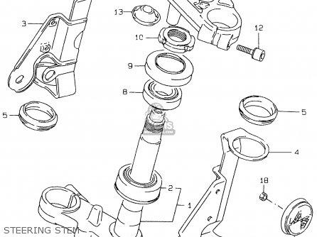 Suzuki Gs500e 1999 x e02 E04 E22 E24 E25 E34 E37 Steering Stem